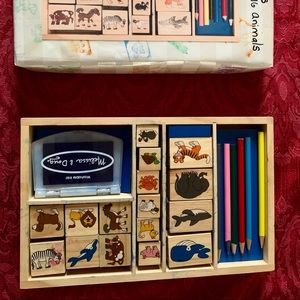 Wood stamps for kids